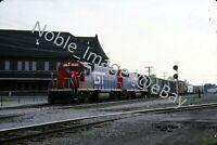 1988 GT 6212, 5813 Locomotive EMD GP38AC Durand Michigan Kodachrome Slide