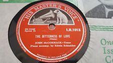 JOHN MCCORMACK THE BITTERNESS OF LOVE & LOVE'S SECRET HMV IR1013