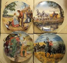 Edwin M. Knowles Oklahoma Series Western Collector Plates 1st-4th Issues Cowboy