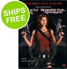 Resident Evil / Resident Evil Apocalypse Resurrection Edition (DVD, 2007) NEW