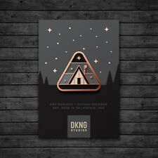 Cabin (Glow in the Dark A-frame Enamel Lapel Pin by DKNG)