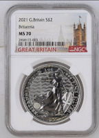 2021 Great Britain Britannia £2 Silver 1oz Coin |  NGC MS70 | Just back from NGC