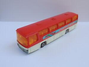 Majorette #375 Neoplan rouge Happy Holidays bus autobus vintage 1/87 diecast car