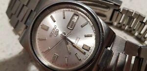 Vintage Seiko 5 Automatic Japan 7009A Men's All Original 17J Watch Serviced VGC
