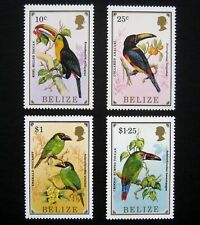 BELIZE 1986 Birds. Beautiful complete set of 4 stamps. Mint NH