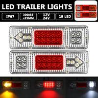 2x 12/24V Trailer Lights 19 LED Truck Boat Caravan Tail  Lights Indicator Lamps
