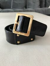 Louis Vuitton Black Patent Leather Belt 85/34