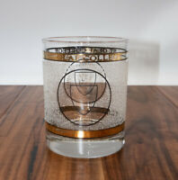 Vintage St Olaf College Frosted Etched Gold High Ball Glass