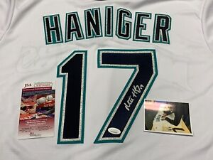 Mitch Haniger Seattle Mariners Autographed Signed Jersey JSA WITNESS COA 1