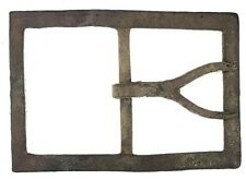 Excavated Confederate Forked Tongue Large Frame Buckle