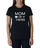 Mom Of Twins Shirt Mother's Day Gift Mama Funny Tee Arrow Women T-shirt S-XXXL