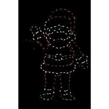 "60"" Waving Santa Animotion LED Christmas Wire Decor Outdoor Christmas Decor"