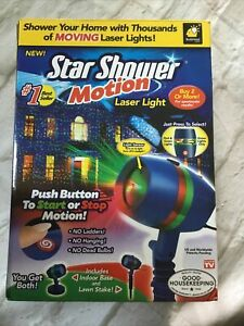 Star Shower Motion Laser Lights Projector by Bulbhead - EUC - complete w/ box