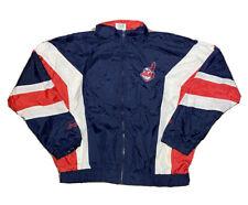 VTG 1990s Nutmeg Mills MLB Cleveland Indians Full Zip Windbreaker Jacket Size XL