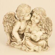 Große Figur Engelspaar mit Herz ca. 21,5cm Paar Engelfiguren