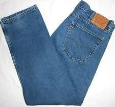 38x32 Levi Strauss 505 Straight Fit Blue Jeans 100% Cotton Men's Red Tab Denim