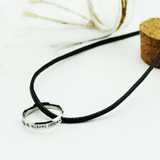 Bigbang MADE STAINLESS STEEL RING NECKLACE Big Bang GD TOP Daesung KPOP NEW