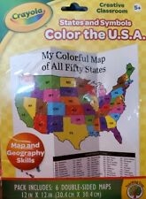 Crayola Creative Classroom Color Map The Usa Kits by Teaching Tree home school