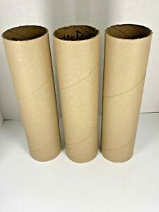 """Lot of 3 Heavy Duty Thick 12"""" x 3"""" Cardboard Tubes for Shipping DIY Arts Crafts"""