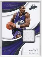 2017-18 IMMACULATE COLLECTION GAME USED WORN JERSEY KARL MALONE #/49