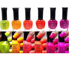 "6 PCS Kleancolor Nail Polish Neon ""Bay of Colorfall"" Lacquer Set #3 manicure"