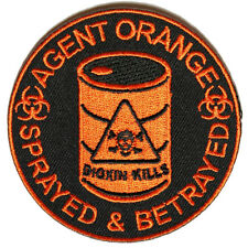 4905, Agent Orange Sprayed and Betrayed Embroidered Patch - Vest, Jacket, Hats