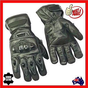 Motorcycle Motorbike Leather Glove Men Summer New Breathable Riding Protection