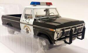Greenlight 1/18 1975 Ford F-100 Ranger Highway Patrol Police Model Car