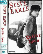Steve Earle Guitar Town CASSETTE ALBUM Country Rock Honky Tonk black shell