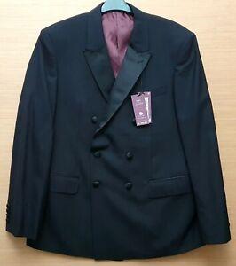 Marks & Spencer Herren Schwarz Wolle Smoking Jacke Größe 107cm Brust Kurz Mrrp