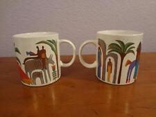 Laurel Burch Mug Lot - 2 Mugs - Morning at the Oasis - 1989 - Made in Japan Cup