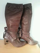 Topshop 100% Leather Pull On Casual Boots for Women