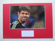ATLETICO MADRID - SPAIN DIEGO COSTA HAND SIGNED A3 MOUNTED PHOTO DISPLAY- COA