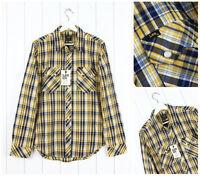 NUEVO LEE 101 Saw Rider Camisa Entallada amarillo/CUADROS AZULES S/M/L