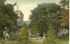 St. Peter's Church Harborne Vintage Colour Photograph Postcard 1928 Pmark P1895