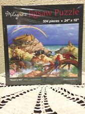 """NEW Noah's Ark Children Puzzle, 504 pieces 24"""" X 18"""" by Milagros Stunning!"""