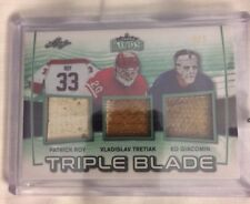 2017 Leaf Lumber Kings ROY / TRETIAK / GIACOMIN Triple Blade  2/2 Stick Emerald