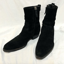 Masterpiece Dior Homme 06aw suede side zip boots, Hedi Slimane