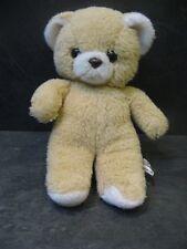 peluche doudou vintage ours marron beige blanc 22 cm ajena