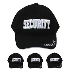 WHOLE SALE HIGH QUALITY Black SECURITY CAP Baseball Hat Embroidered CHRISTMAS GI