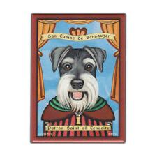 "Retro Pets Magnet, Patron Saint Dog Series, Schnauzer, Advertising, 2.5"" x 3.5"""