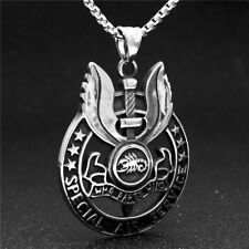 Who Dares Wins UK Special Air Service (SAS) Badge Pendant Necklace