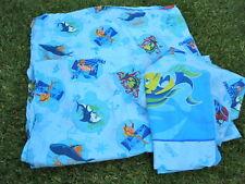 SHARK TALE VINTAGE Twin Bed SHEET SET Dreamworks 3 Pc Set Flat, Fitted, Std Case