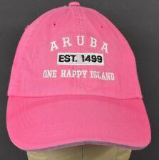 Pink Aruba est 1499 uno Happy isla Bordado Béisbol Sombrero Gorra Ajustable dde552d63d3