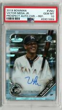 2019 BOWMAN VICTOR MESA JR. 1ST PROSPECT REFRACTOR AUTO /499 PSA 10 [SY]