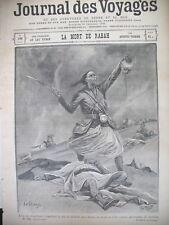 198 TCHAD TIRAILLEUR COLONIALE MORT DE RABAH JOURNAL DES VOYAGES 1900