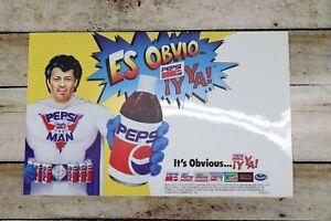 Spanish Pepsi Man Vinyl Cling Advertising Signage