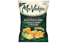Miss Vickies Kettle Cooked Potato Chips HARVEST CHEDDAR & HERBS 220g CANADIAN