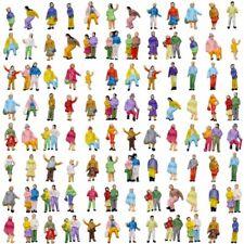 P150W 100pcs Model Trains 1:150 People N Scale Painted Figures Passenger