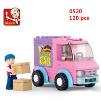 Sluban MINI Blocks DIY Kids Building Educational Toy Puzzle PINK Car 0520